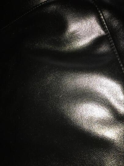 哈罗小妞 加绒加厚皮裤女秋冬款打底裤紧身休闲裤女(有黑色绒毛和黄色绒毛) 加绒款(黑色绒毛) S 建议85斤内 晒单图