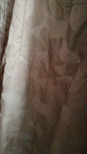 盖仕伦 长袖衬衫男士印花修身商务休闲棉质免烫加绒加厚保暖衬衫男装2020春季新款衬衣 黑色(薄款) 5XL 晒单图
