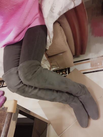 莱尔斯丹 秋冬款女鞋女靴商场同款套弹力过膝靴系带贴脚长靴OUS 8T61303 黑色 BKF 39 晒单图