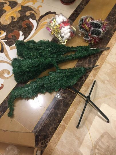 圣诞树套餐彩灯加密枝头 圣诞节装饰品挂件礼物套餐 1.5米豪华套餐(115个配件+300个枝头) 晒单图