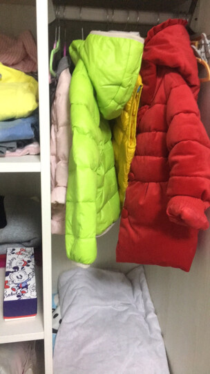 贝贝王国2017冬新款婴幼儿童短款羽绒服男女宝宝带帽轻羽绒外套 粉桔 100 晒单图