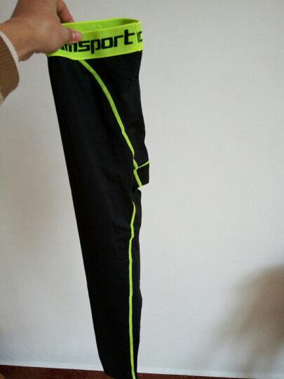 雷迪豹(Leidibao)紧身裤男运动丝袜速干篮球打底裤弹力压缩长裤 荧光绿加厚款 XL 晒单图