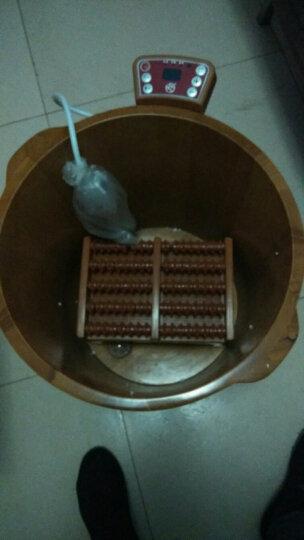 足道 木桶泡脚桶足浴桶44CM自动加热恒温洗脚盆橡木养生桶 晒单图