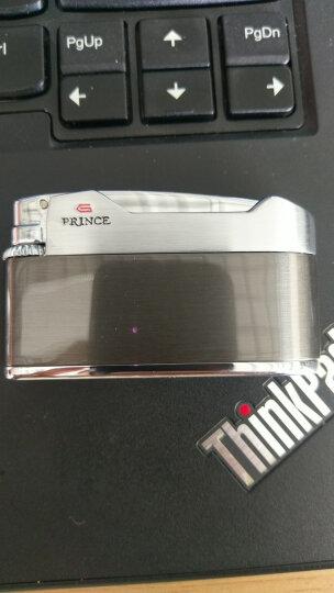 RINCE日本正版正品PRINCE王子王子砂轮气体打火机充气黑冰个性创意纤薄 88E-6002 晒单图