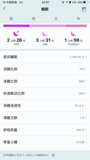 荣耀手环3 智能运动 50米防水 24小时心率检测 科学睡眠监测 来电拒接 适配iOS&安卓 蔚海蓝 晒单图
