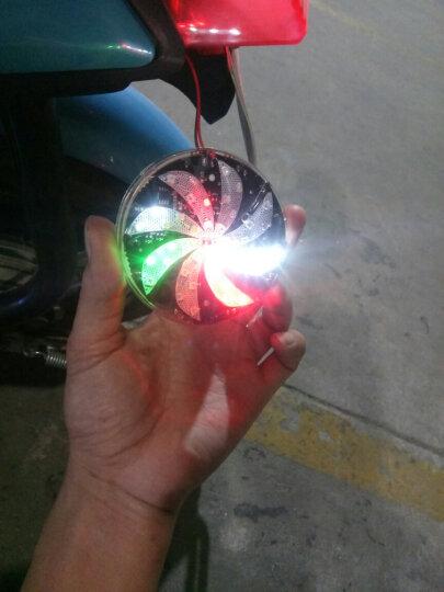 电动车12V彩灯爆闪灯摩托车改装配件灯饰LED七彩刹车灯风叶灯尾灯 六叶款 晒单图