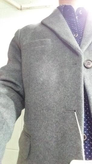 布彦西服男修身韩版冬季羊毛呢商务休闲小西装外套男潮上衣青年单西男加厚款纯色呢子大衣秋季 灰色 L 晒单图