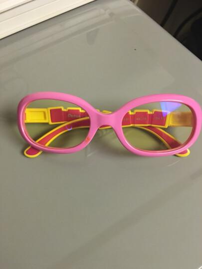 P8866星球儿童防蓝光防辐射眼镜小孩看手机保护眼睛护目平光镜 紫红色P8803-B1 晒单图