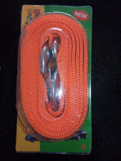 狼爪  汽车拖车绳3吨4米 尼龙双扁绳加厚荧光牵引绳强力救援绳救援工具 晒单图