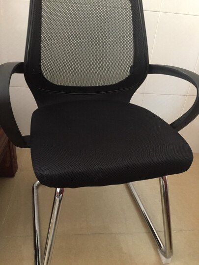 欧奥森 电脑椅 办公椅弓形电脑椅子职员网椅转椅会议椅弓形椅子人体工学电竞椅家用网吧 S103-13-黑绿弓形椅 晒单图