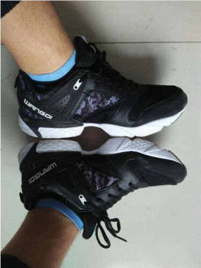 【格兰森】休闲鞋男鞋春季 新品 板鞋 男鞋子 男新款韩版潮流低帮运动鞋 皮面款#黑白 37 晒单图