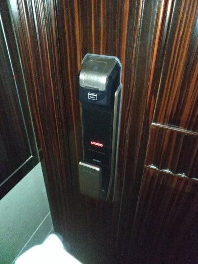 三星(SAMSUNG)指纹锁 家用防盗门密码磁卡锁 智能电子锁 SHS-P718 香槟金 外开 标配版 晒单图