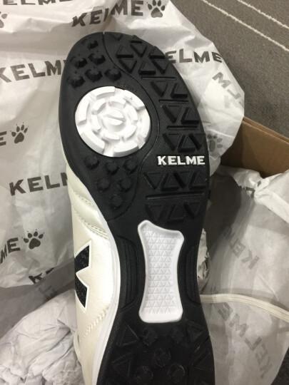 KELME卡尔美足球鞋袋鼠皮TF碎钉鞋K90 珍珠白 40 晒单图