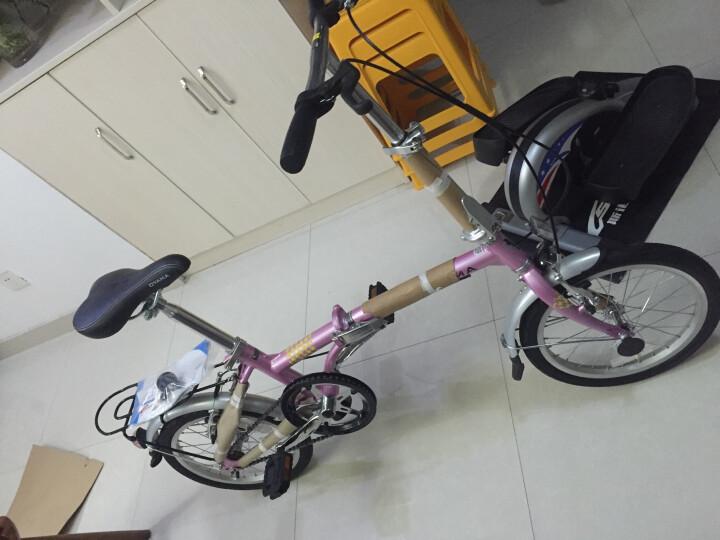 欧亚马 OYAMA风影S100折叠自行车16寸单速折叠轻便男女通勤便携单车 黄色 晒单图