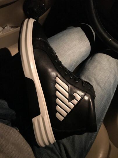 意大利男鞋新款真皮秋冬季保暖加绒棉鞋男高帮时尚休闲鞋英伦板鞋 加绒版黑色 40正常皮鞋码 晒单图