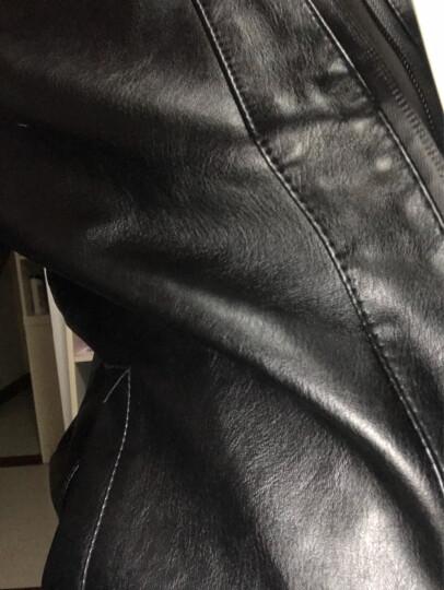 范华尼 夹克男2018秋季新款皮夹克青年韩版修身棒球领外套冬装男士休闲皮衣潮 黄色 L 晒单图