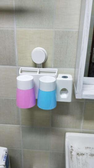 挂壁式牙刷架套装漱口杯创意吸盘牙刷架子牙刷杯洗漱组合套装用具浴室置物架 两口之家 晒单图
