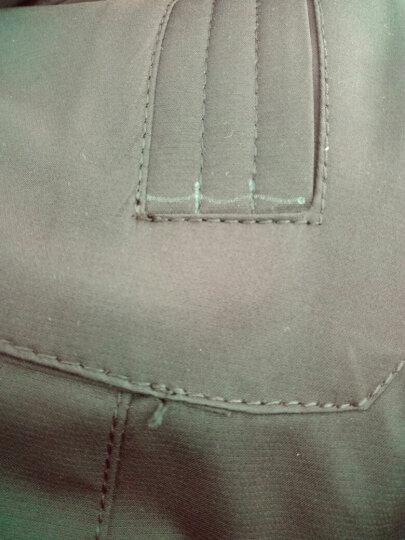 恒源祥  中长款羽绒服男加厚保暖纯色连帽长款新款男装修身羽绒服时尚外套 6075黑色 M 晒单图