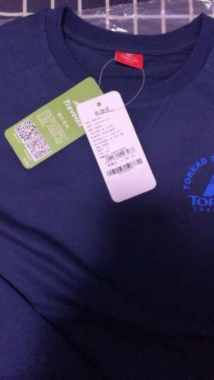 探路者2017年冬季新款卫衣外套男式户外棉感舒适印花套头TAUF91786 铁蓝灰 XXL 晒单图