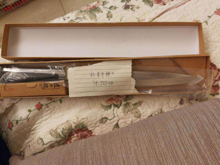 匠の技不锈钢生鱼片刀具日本寿司刀 料理刀 刺身刀 柳刃刀 厨师刀水果刀西瓜刀 生鱼刀 生鱼寿司刀8寸JZJ-131 晒单图