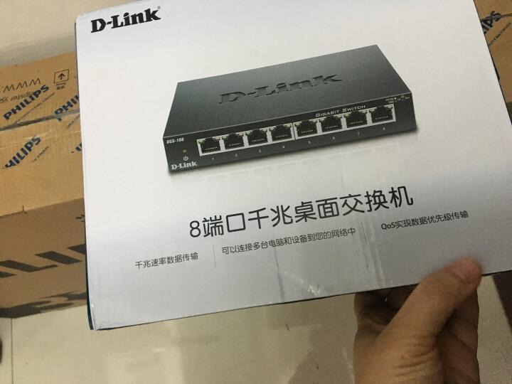 友讯(D-Link)DGS-108 8口全千兆铁壳桌面型可壁挂非网管以太网交换机网络监控分线器防雷性 晒单图
