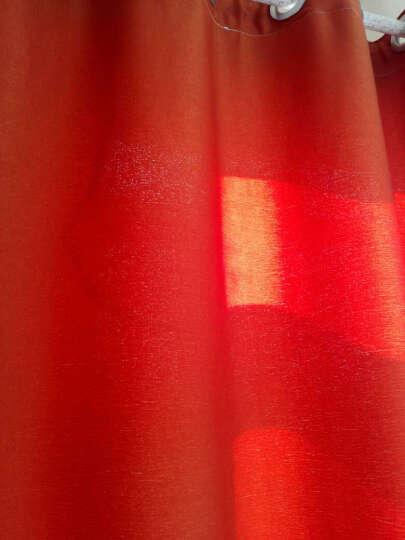 锋俊 窗帘成品遮光窗帘布 定制客厅卧室落地遮阳布 粉红色 (挂钩)3.5米宽x2.7米高 1片 高可改 晒单图