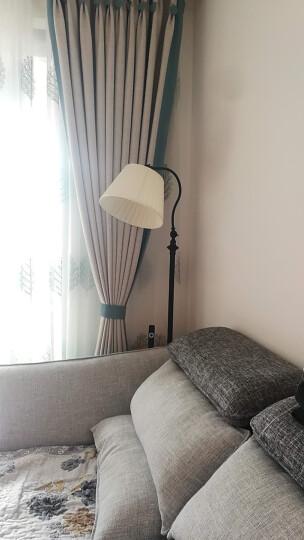 凡丁堡落地灯客厅卧室阅读立式台灯实木茶几可调节钓鱼415FL 青铜色带桌板+6W暖光LED灯泡 晒单图