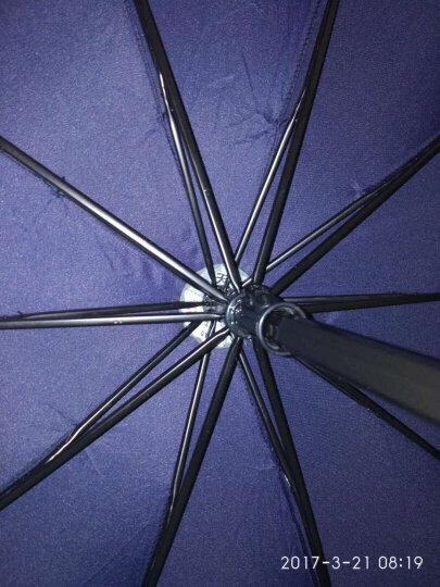 天堂伞 2-3人男士折叠晴雨伞 三折商务伞高尔夫纯色三人大号太阳伞 广告伞可订制印刷字logo 黑色 晒单图