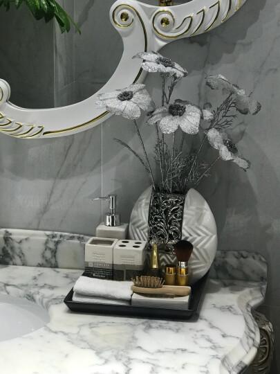 正想 花瓶陶瓷摆件 现代家居客厅装饰品摆件工艺品欧式办公室玄关电视柜摆设假花酒柜结婚庆礼品 高身玫瑰花瓶-金银一对 晒单图