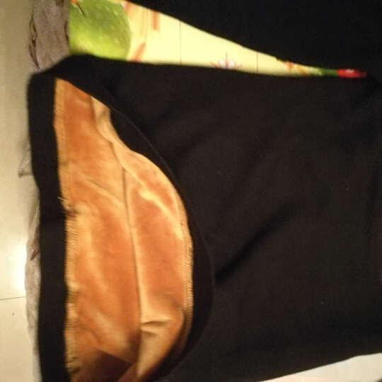 低领保暖内衣女加绒加厚托胸打底衫哺乳紧身长袖单件上衣 黑色 均码(90-130斤) 晒单图