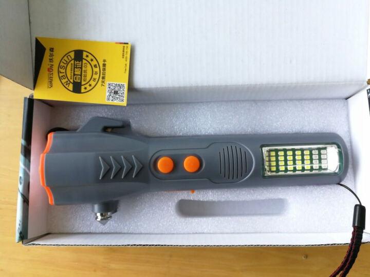 沃尔森(Warsun) 车载手电筒强光防身多功能声光报警六合一消防应急充电超亮车用 灰色高配版(带警报声红光警示功能) 晒单图