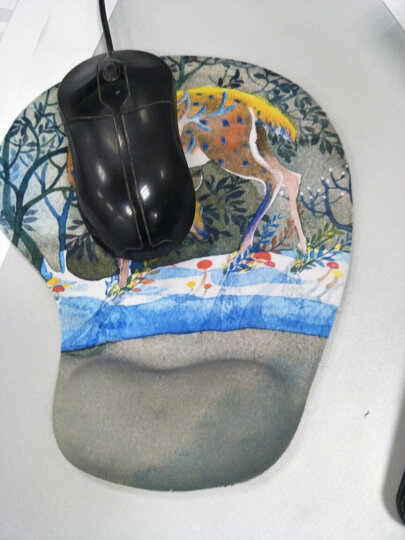 【买三减一】动漫可爱护腕鼠标垫子小号 办公电脑笔记本细面卡通硅胶女生苹果加厚游戏手腕垫腕托 梅花鹿-护腕鼠标垫 晒单图