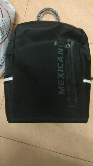 稻草人(MEXICAN)男士背包双肩包男时尚韩版休闲男防水布料包电脑包MJX50435M-06黑色 晒单图