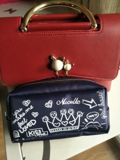 纽芝兰女包单肩包2018新款链条斜挎包个性猫耳小方包潮包包女包  072 气质红 晒单图