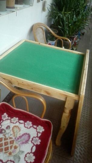 实木麻将桌餐桌家用简易手搓棋牌桌双层多功能两用麻雀台 单桌子 晒单图