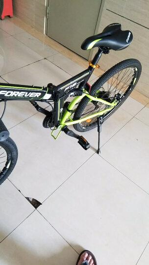 永久24速自行车 前后减震折叠山地车 双碟刹 F18 黑绿色 晒单图