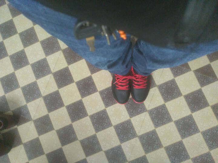 乔丹篮球鞋男运动鞋2019新款球鞋春夏季防滑耐磨学生战靴 黑色/乔丹红(低帮) 42 晒单图
