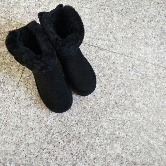梵格鸟 冬季新款短靴女兔毛加厚保暖套筒雪地靴女 棉鞋 VF4933黑色 38 晒单图