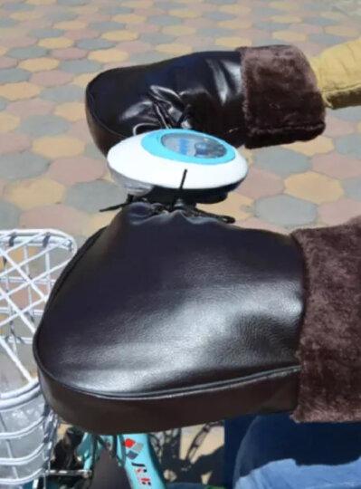 喜智乐 冬季电动车把套手套电瓶车踏板摩托车加厚防冻防寒保暖皮护手男女 棕色加长(跨骑摩托和载重王用) 晒单图