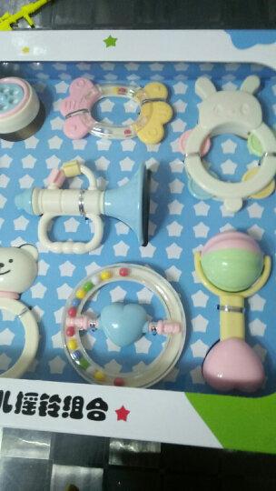 谷雨婴儿玩具0-1岁新生儿可咬牙胶摇铃手摇铃 3-6-12个月幼儿宝宝床上玩具罐装盒装摇铃 小熊灌装摇铃10只装蓝色6510L 晒单图