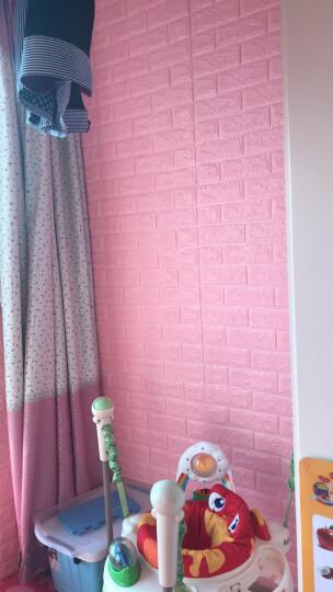 嘉柏兰 3D立体墙贴纸壁纸墙纸自粘砖纹电视背景墙客厅卧室宿舍护墙板儿童房装饰加厚防水防油防撞 金黄色 晒单图