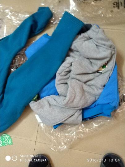 贝尔兰童装秋冬儿童套装2018双层加厚卫衣裤子套装中大童衣服40011 水绿 120码 晒单图