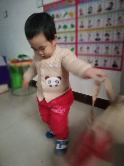馨颂 婴儿衣服新生儿彩棉保暖开衫套装内衣上衣裤子宝宝衣服 D066D 浅卡其熊猫 90 晒单图
