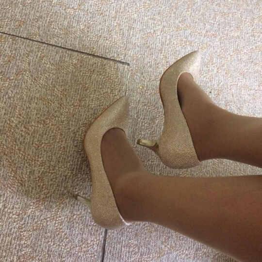 梦丽舒春季新款女鞋 欧美时尚高跟鞋 舒适低跟单鞋女 性感细跟OL上班鞋 黑色 37标准皮鞋码 晒单图