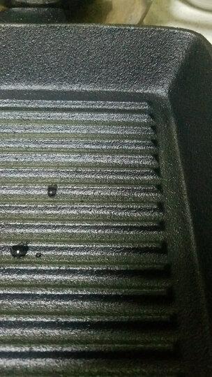 欧腾 OUTENG平底锅 条纹铸铁无涂层方形牛排煎锅 手工铸造生铁锅 电磁炉通用不粘锅KC006 25CM普通款 晒单图