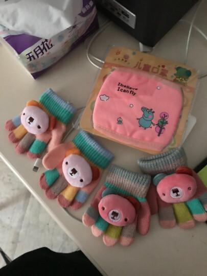 霞美3-6-12个月婴儿五指手套1岁2男女宝宝冬季保暖薄款幼儿童小孩手套 西瓜红(迷你小熊) 3个月-2岁 晒单图