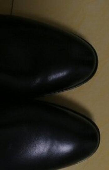 驮郎正品三接头正装制式皮鞋武校尉常真皮尖头系带皮鞋服 武校尉假系带真皮款 43 晒单图