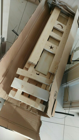 皇家御兔 床全实木床上下床双人床高低床双层床上下铺公主床 直梯床上铺宽100下铺宽120 送货上门   并安装 晒单图
