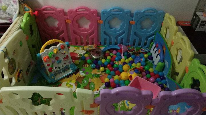 【送爬行垫+海洋球100个】哈皮熊儿童婴儿围栏游戏爬行垫宝宝围栏学步护栏 升级款10+1+1送海洋球100+收纳筐+爬爬垫 晒单图