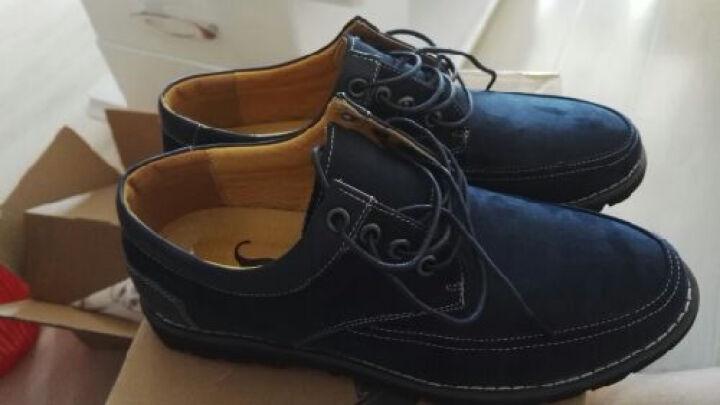 康龙男鞋子 时尚日常透气英伦风流行休闲鞋 卡其色253114308 42 晒单图